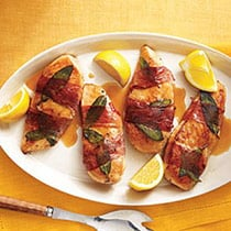 Lemony Chicken Saltimbocca image