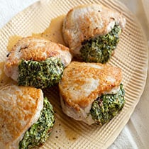 Pesto Stuffed Pork Chops image