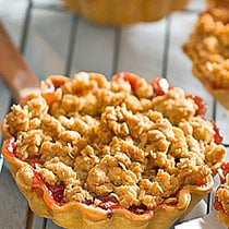 Apple Crumb Tart with Cinnamon Cream image