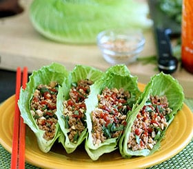 Five-Spice Turkey & lettuce Wraps image