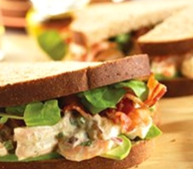 Shrimp Salad Sandwiches with Avocado, Bacon & Watercress image