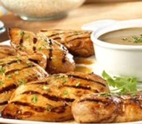 Grilled Chicken Breasts with Zesty Peanut Sauce image