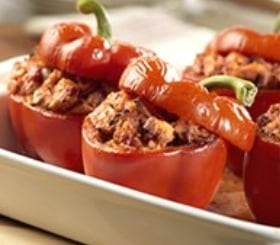 Turkey-Stuffed Bell Peppers image