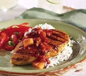 Grilled Chicken with Pineapple Salsa image