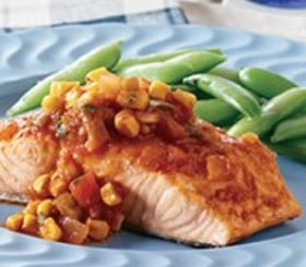 Pacific Coast Salmon with Pan-Roasted Corn Salsa image