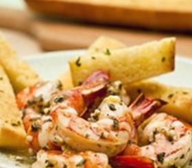 Shrimp Scampi with Garlic Bread image