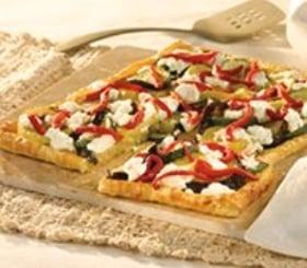 Roasted Vegetable Pesto Tart image
