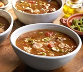Spanish Chicken and Rice Soup image