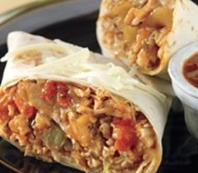 Slow Cooked Shredded Pork Burritos with Green Chile Sauce image