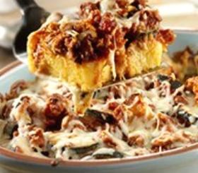 Polenta Sausage Bake image