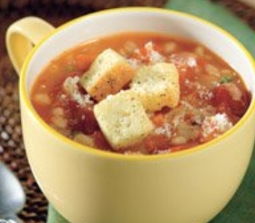 Slow Cooked Savory Barley & Tomato Soup image