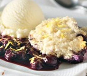 Blueberry Compote with Lemon Dumplings image
