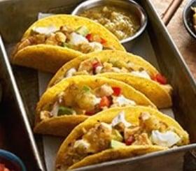 Salsa Verde Chicken Tacos image