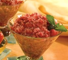 Pomegranate Blueberry Granita image