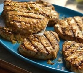 Grilled Tomatillo Tuna Steaks image
