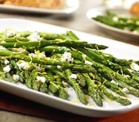 Roasted Asparagus with Lemon & Goat Cheese image