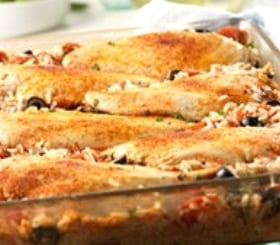 Mediterranean Chicken & Rice Bake image